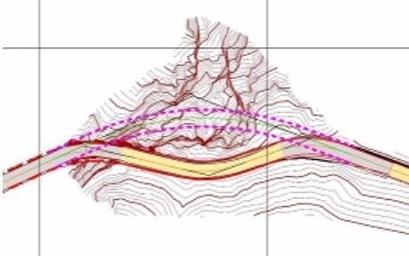 План реконструкции существующего тоннеля «Tunnel de Pontis», Швейцария