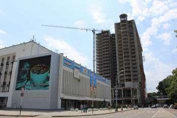 Гостиничный комплекс «MARRIOTT» в г.Краснодаре, Завершение возведения несущих конструкций высотной части комплекса, 07.07.2010