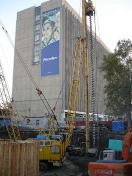 Гостиничный комплекс «MARRIOTT» в г.Краснодаре, Бурение свай, 20.11.2006