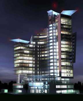 Отель – апартаменты на пересечении улиц Театральная и Курортного проспекта в г.Сочи